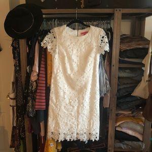 White lace Betsey Johnson dress